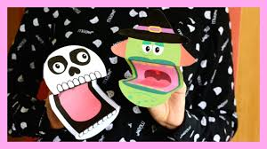 printable halloween puppets halloween crafts for kids youtube