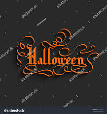 halloween hand lettering greeting card typographical stock vector