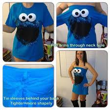 cookie monster costume diy tutorial homemade halloween