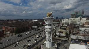 porsche atlanta avengers cloudy day in atlanta drone view 4k youtube