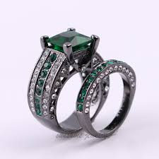 green wedding rings black and green engagement ring new wedding ideas trends