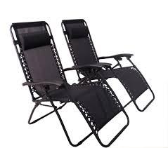 Reclining Gravity Chair 9001bk Zero Gravity Chairs Black Set Of Two Powersmart Usa