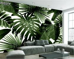 popular 3d palm leaf wallpaper buy cheap 3d palm leaf wallpaper beibehang modern custom 3d wallpaper tropical rain forest palm banana leaf 3d living room background wall