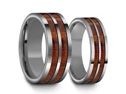matching wedding band sets tungsten matching wedding band set hawaiian koa wood matching