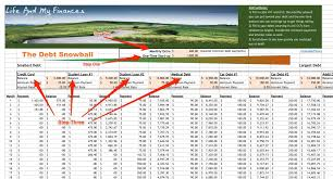 Spreadsheet For Paying Debt Spreadsheet For Snowball Method To Pay Debt Business