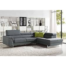 Curved Contemporary Sofa by Darby Modern Grey Fabric Sectional Sofa Set