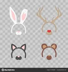 deer headband headband with ears set isolated on