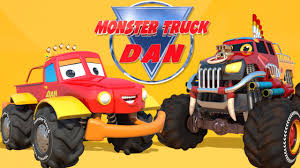 monster truck cartoon videos monster truck dan kids song baby rhymes kids videos youtube