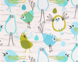 Backyard Baby Fabric by Windy Day In Blue Ps 5351 Backyard Baby Michael Miller Fabrics