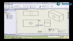 engineering creating a simple drawing in solidworks andrew
