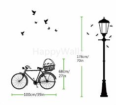 aliexpress com buy street lamp bike wall sticker bike lamp wall aliexpress com buy street lamp bike wall sticker bike lamp wall decal diy decorating modern vinyl wall lamp wallpaper removable wall sticker m2 from