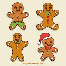 hand drawn gingerbread man cookie collection vector free download