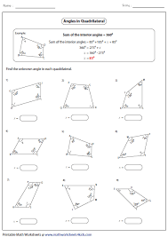 quadrilaterals worksheet ks2 collections of 4th grade geometry