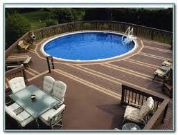 round above ground pool deck kits pools home decorating ideas