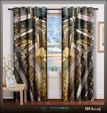 digital print abstract home decor designer curtain digital print