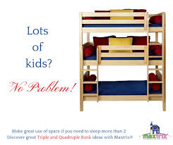 triple bunk beds for your kids shared bedroom maxtrix