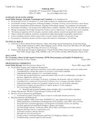 Technology Skills Resume Examples Summary Of Qualifications Resume Example Cv Resume Ideas