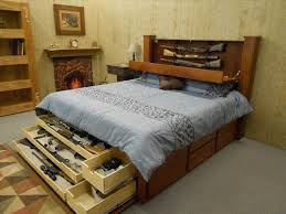 Simple Wooden Bed With Drawers Bed Frame Diy Building Bed Frame With Storage Farmhouse Drawers