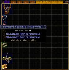 gold rings poe images Perandus gold ring of excavation wtf do i do with this png