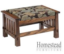 Funky Ottoman Country Mission Ottoman 4575 Homestead Furniture