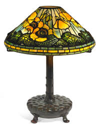 stained glass l bases art glass tiffany tiffany studios poppy table lamp bronze l