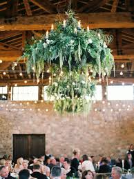 Rustic Wedding Chandelier 11 Creative Ways To Use Greenery In Your Wedding Tulle