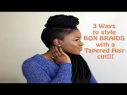 nubian hair long single plaits with shaved hair on sides how to style box braids with a tapered haircut mona b youtube