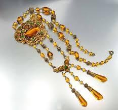 long vintage necklace images Vintage emerald amber glass czech art deco necklace boylerpf jpg