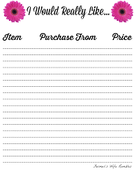my wish list free wish list printables 5 designs to from farmer s