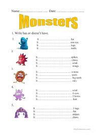 monster worksheets 133 best images about monster activities on