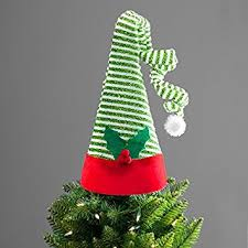 tree topper large hat green and white