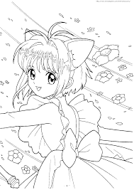 cardcaptor sakura coloring pages coloring pages online