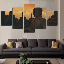 online buy wholesale buddha wall art from china buddha wall art modern wall painting home decor pictures printed on canvas 5 panel buddhism wall art poster stone
