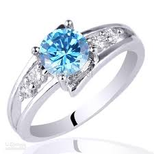 silver topaz rings images 6mm round stone promise ring blue topaz 925 sterling silver ring jpg