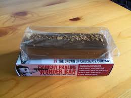 grown up chocolate company crunchy praline wonder bar the snack