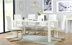 Black Gloss Dining Room Furniture Gold Dining Room Table Dining Table In Gold Tone W Optional Items