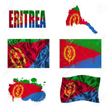 Eritrean Flag Eritrea Flag And Map In Different Styles In Different Textures