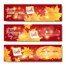 thanksgiving day vector elements sale banner royalty free stock