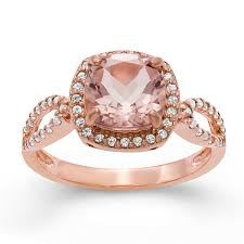 pink morganite womens simulated pink morganite 14k gold silver cocktail ring