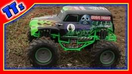 learn monster trucks grave digger toy video toyscouts