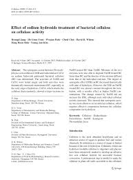 effect of sodium hydroxide treatment of bacterial cellulose on