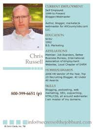 Baseball Resume Secrets Of The Job Hunt Put Your Resume On A Baseball Card