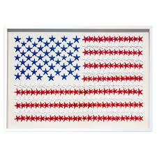 american flag coastal starfish white wall decor karen robertson
