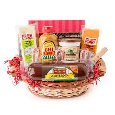 sausage gift baskets party favorites gourmet summer sausage and cheese small