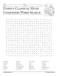 classical composers word search free printable