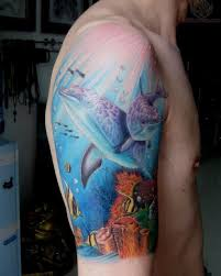 colorful dolphin tattoos for tattoos and piercings