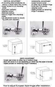 Screws For Kitchen Cabinets by How To Adjust Kitchen Cupboard Doors Voluptuo Us
