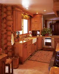 log cabin kitchen cabinets log home kitchen cabinet ideas rustic
