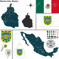 Mexico City Mexico Map by Vector Map Of Federal District Mexico City With Coat Of Arms