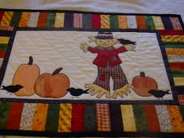 Fall Table Runners by Fall Appliqued Placemats Klc Creations